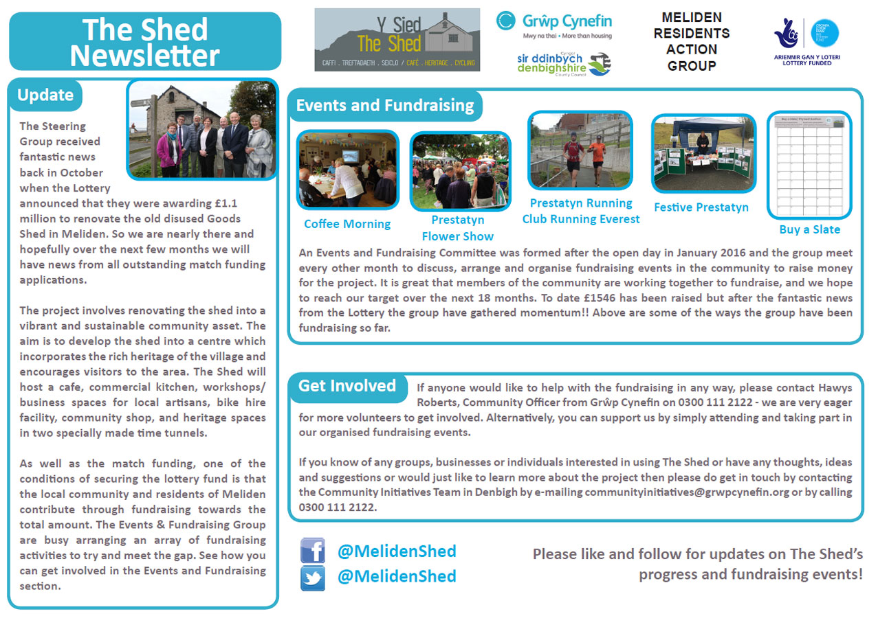 Y Shed Newsletter January 2017