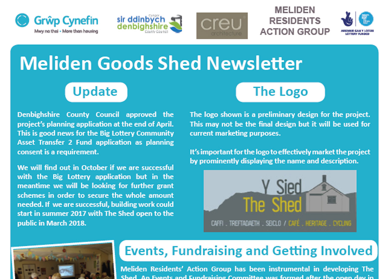 Y Shed Newsletter May 2016